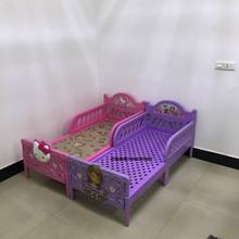 宝宝塑ju床幼儿园卡ln男孩女孩午睡午休(小)床带护栏单的宝宝床