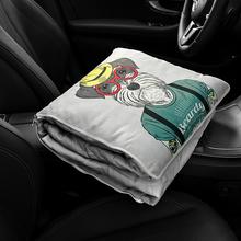 车载抱ju被子两用汽th意个性冬季保暖办公午睡空调被车内用品