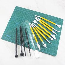 压板纹ju棒 软陶艺fu轻粘土美国土精雕油diy手办面塑工具