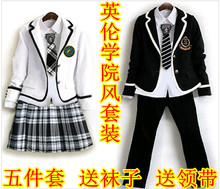 宝宝演ju服装合唱服ku朗诵表演英伦学院风中(小)学生主持的礼服