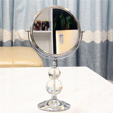星丽水ju柱高端双面ia欧柜台式桌面美容放大女梳妆镜子化妆镜