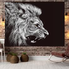 拍照网ju挂毯狮子背iens挂布 房间学生宿舍布置床头装饰画