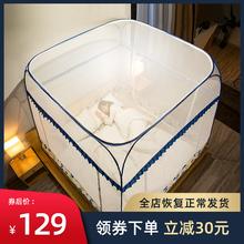 含羞精ju蒙古包家用iz米床免安装三开门1.5/1.8m床加密加厚