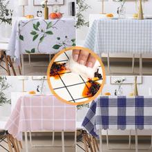 北欧格ju餐桌布布艺tm油防烫免洗pvc茶几布网红ins长方形台布