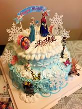 上海网ju同城配送双qu尼Frozen冰雪奇缘宝宝满月周岁百天蛋糕