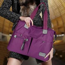 新式女ju斜挎旅行包qu用包防水牛津布包单肩手提包斜跨大包包