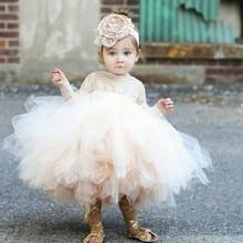 宝宝礼ju公主裙女童ty周岁生日花童晚礼服裙婴儿蓬蓬纱裙新式