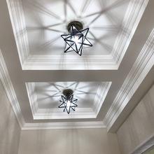 美式五jv星走廊过道ry星星灯玄关灯现代卧室阳台创意吸顶灯具