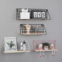 北欧墙jw置物架创意lp件墙面客厅卧室床头宿舍浴室铁艺收纳架