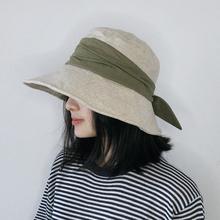 渔夫帽jw女夏季日系lp搭大帽檐韩款潮流防紫外线晒沙滩遮阳帽