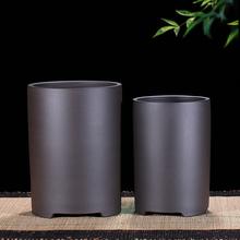 宜兴紫k3多肉悬崖盆x2墨兰春兰建兰蕙兰兰花专用陶瓷花盆包邮
