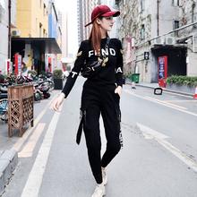 曳步舞ka装2020ai式运动休闲套装女潮式时尚鬼步舞衣服两件套