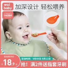 新生婴ka勺子宝宝硅gy学吃饭训练喂水辅食勺家用宝宝餐具套装