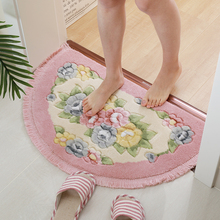 家用流苏半圆地垫卧室浴室门ka10进门脚he口吸水防滑垫子
