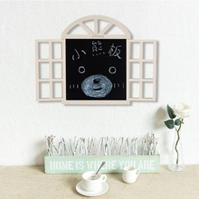 田园风ka创意假窗户pa墙面墙壁墙上配电表电闸箱遮挡木质黑板