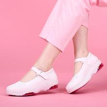 护士鞋ka春夏季新式ei皮洞洞舒适气垫软底圆头低帮