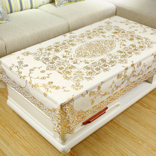 茶几桌ka防水防烫防ai长方形餐桌垫PVC现代欧式台布塑料布艺