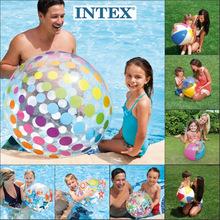 玩具充ka球沙滩球儿ic游泳水球塑料球水上(小)孩戏水彩色草坪球