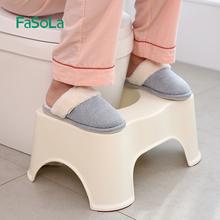 日本卫ka间马桶垫脚ic神器(小)板凳家用宝宝老年的脚踏如厕凳子