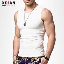 无袖Tka男士运动健ic型紧身宽肩砍袖打底背心纯潮外穿