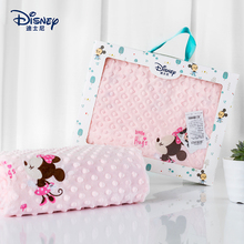 迪士尼ka儿豆豆毯秋an厚宝宝(小)毯子宝宝毛毯被子四季通用盖毯