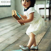 MARkaMARL宝en裤 女童可爱宽松南瓜裤 春夏短裤裤子bloomer01