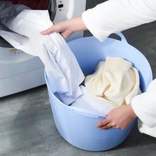 时尚创ka脏衣篓脏衣en衣篮收纳篮收纳桶 收纳筐 整理篮