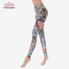 优卡莲ka伽服新式太en印花裤子健身运动显瘦瑜伽九分裤BPW060