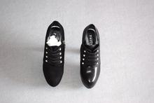 商场品牌ka1码黑色牛en短靴高跟厚底真皮单靴