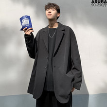 韩风ckaic外套男en松(小)西服西装青年春秋季港风帅气便上衣英伦