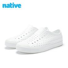 natkave shen男鞋女鞋舒适防水(小)白鞋运动透气凉鞋native洞洞鞋男