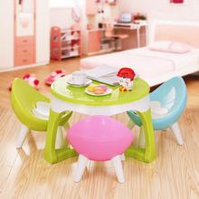 套装幼ka园宝宝学习en画(小)桌子(小)孩椅子宝宝学习桌椅