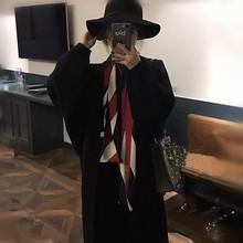 春秋时ka洋气细长条ur士百搭韩国长式(小)围巾职业气质装饰领巾
