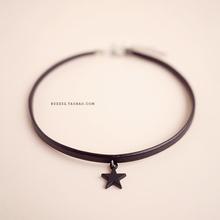 韩国星kachokeur项圈颈带女 简约颈链锁骨链脖链短式少女