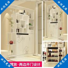 双面隔ka柜间厅柜玄al门厅柜储物柜多层两用大容量(小)户型酒柜