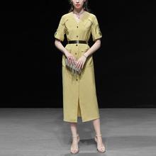 夏装2021新款女装衬ka8包臀裙长sa身OL显瘦中长款连衣裙