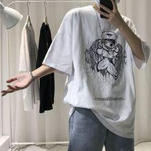 原宿风短袖T恤男潮牌潮流ins宽松个kc15时尚夏sg海贼王衣服