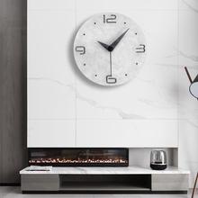 静音钟kd圆形个性创e7挂表网红轻奢挂钟客厅现代简约大气时钟