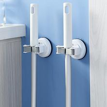 日本免ke孔无痕拖把on生间浴室强力承重吸盘挂架扫把夹壁挂