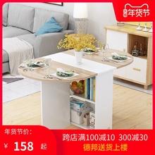 简易圆ke折叠餐桌(小)in用可移动带轮长方形简约多功能吃饭桌子