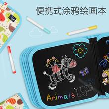 宝宝画kf涂鸦写字白zq双面可用(小)黑板可擦水粉笔涂绘画本家用