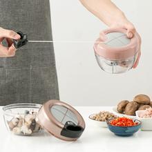 手动切kf器绞肉机 zq品(小)工具碎菜神器 家用手拉多功能碎蒜器