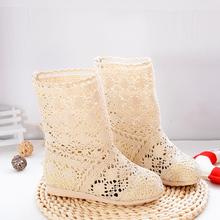 202kg新式欧美夏51靴镂空靴单鞋平跟洞洞短靴低筒单靴子网靴潮