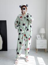 双层纱ki孕产妇哺乳hw纯棉长袖大码宽松胖MM200斤产后月子服