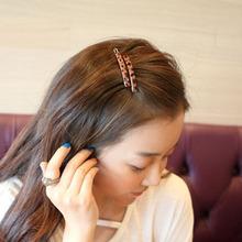 热卖韩ki豹纹饰品一as款刘海边夹发卡子对夹头饰发饰