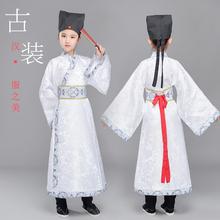 春夏式ki童古装汉服ed出服(小)学生女童舞蹈服长袖表演服装书童