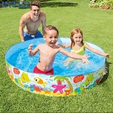 原装正kiINTEXgd硬胶婴儿游泳池 (小)型家庭戏水池 鱼池免充气