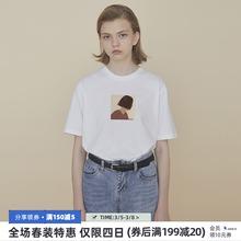 PROkiBldg gd计 情侣装夏装T恤女宽松短袖T恤黑色上衣