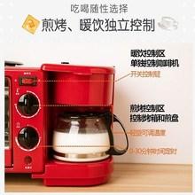 。家用ki包片吐司机an粉色迷你双面压加热(小)型早餐机