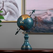 美式北ki装饰品欧式si书房酒柜摆件办公室家居客厅摆设